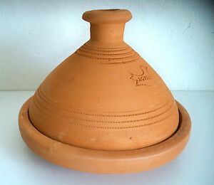 Plat a tajine tagine marocain cuisson terre cuite 30 cm 5 6 personnes ebay - Plat a tajine en terre cuite ...
