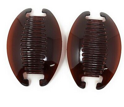 - 2 set Jumbo Banana Comb Clip Thick Hair Riser Claw Interlocking Jaw Extra .