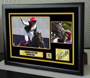 Frankie Dettori Golden Horn Framed Canvas Tribute Print Signed Ltd