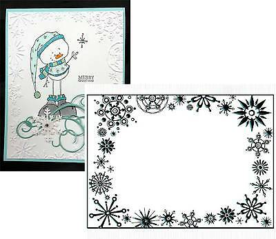 Snowflake Embossing Folders Frost Frame Crafts Too Folders Cuttlebug (Frost Frame)