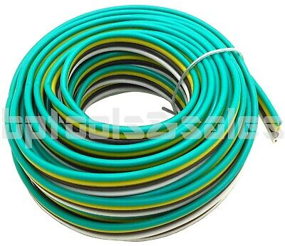25 Feet 4-WAY BONDED TRAILER WIRE 12V 16AWG TAIL LIGHT STOP TURN COLOR CODED 4 Wire Trailer Lights