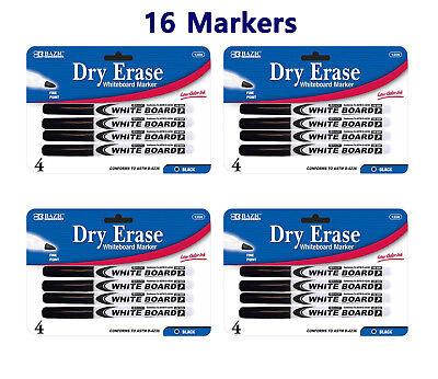 Fine Tip Dry Erase Whiteboard Black Marker 16 - Black Dry Erase Markers