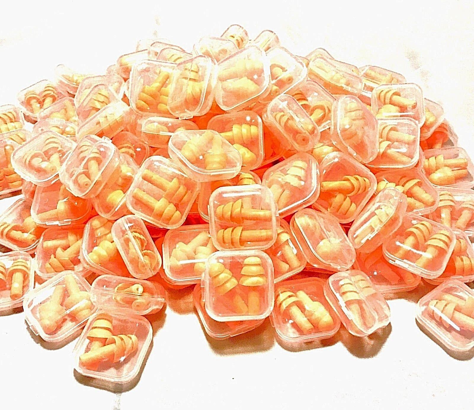 Ear Plugs 10 Pairs Orange Silicone Ear Plugs 33dB Anti Noise