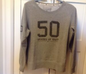 """Women's Roots """"Fifty Shades of Grey"""" Sweat shirt - Size Large"""