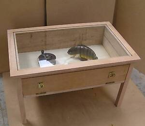 Uniue Collector Coffee Table Display with extra large Shadow Box Invermay Park Ballarat City Preview