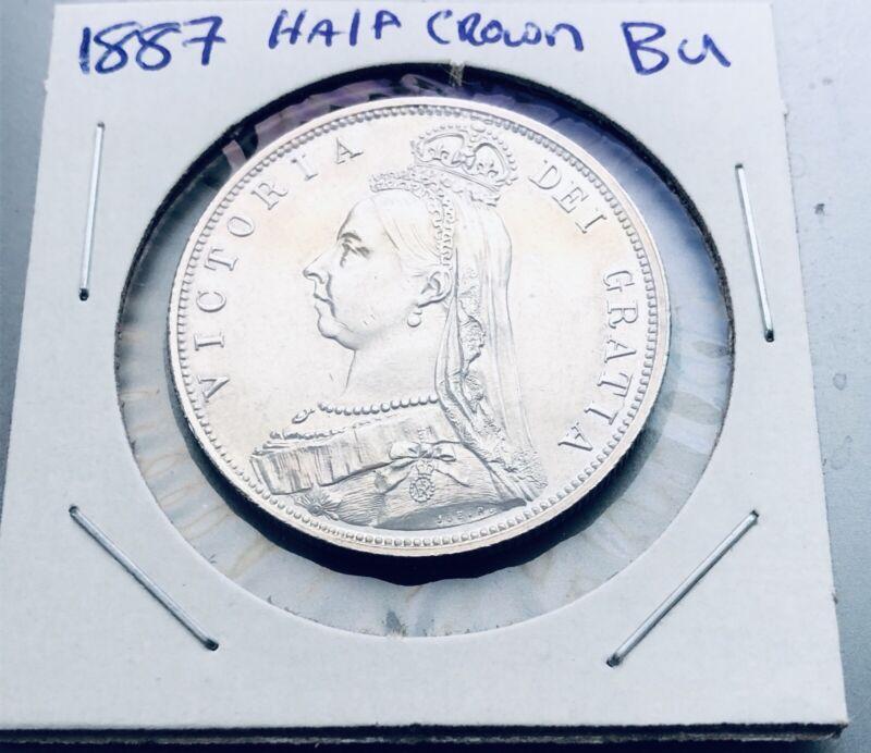 1887 1/2 Crown BU Great Britain