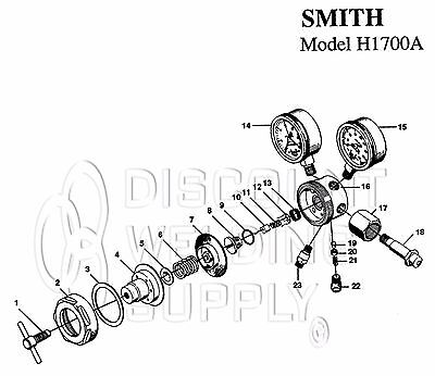 Repair Kit - Smith 1710a-540 Oxygen Regulator Rebuild As1700rk