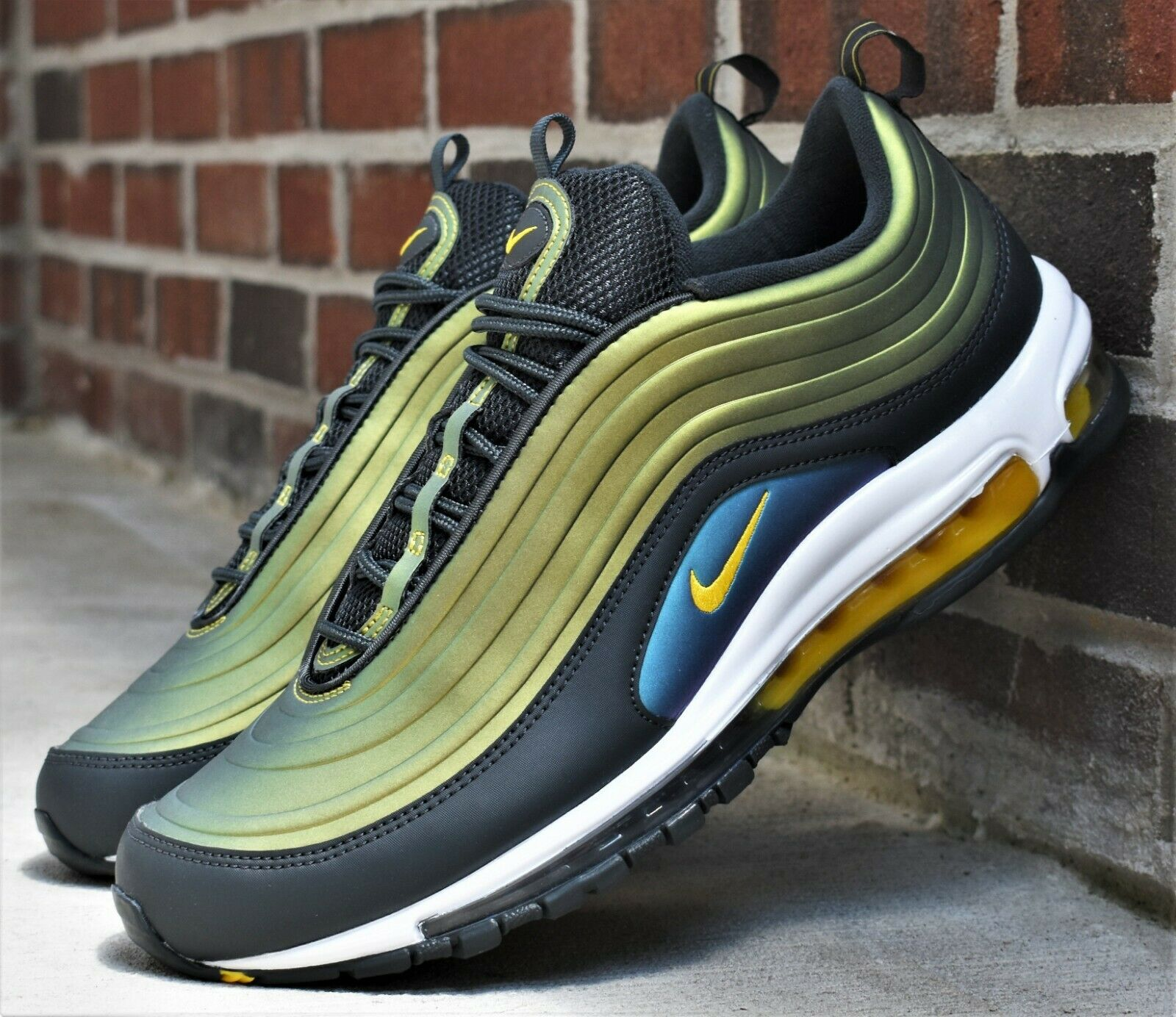 Nike AIR MAX 97 LX New Mens Lifestyle Airmax Sneakers Anthracite Amarillo