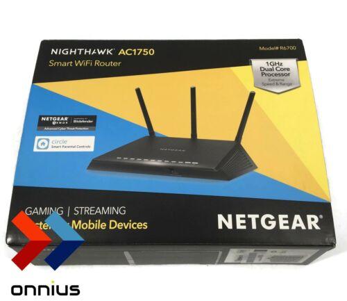 NETGEAR R6700 Nighthawk AC1750 Dual Band Smart WiFi Router,