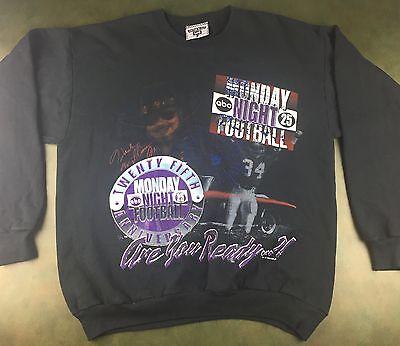 Vintage Mens L 1994 Abc Nfl Monday Night Football Hank Williams Jr  Sweatshirt