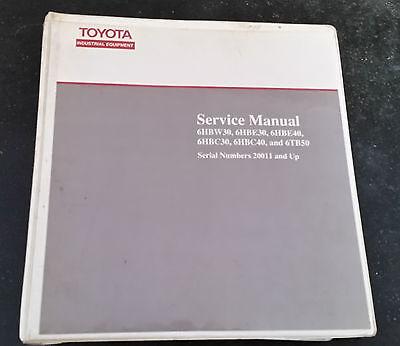 Toyota Forklift Service Manual 6hbw E C Tb