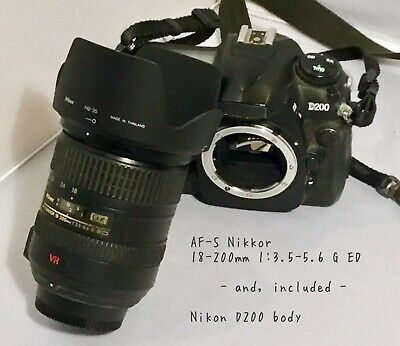 Nikon NIKKOR 18-200mm f/3.5-5.6 G ED AF-S VR Lens and FREE D200 body, and more