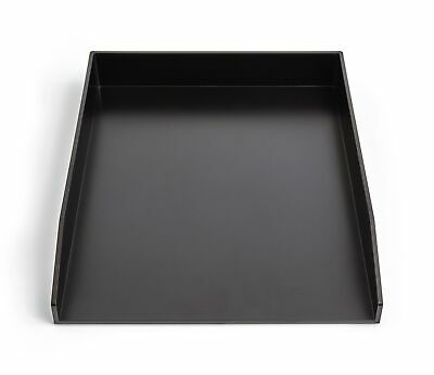 Tru Red Front Load Stackable Plastic Letter Tray Blk Tr55253