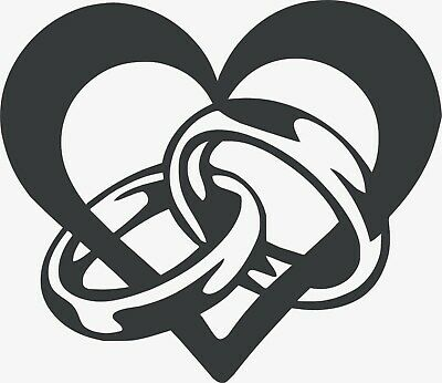Dxf Svg Files Of Plasma Laser Cut Router - Dxf Cdr - Drawn Vector - Ring Heart