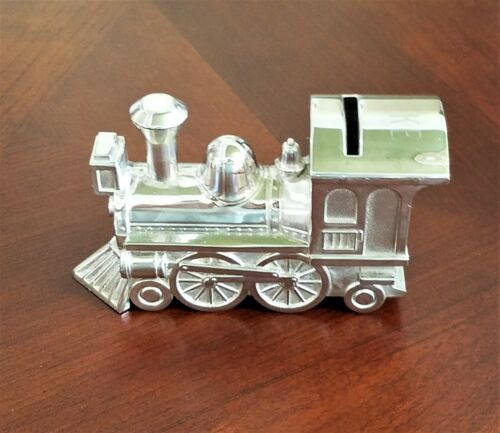 Silverplated train baby bank LUKE