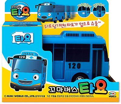 "Original Little Bus TAYO plastic Model kit Pull-back and go style/4.3"" Korea Toy"