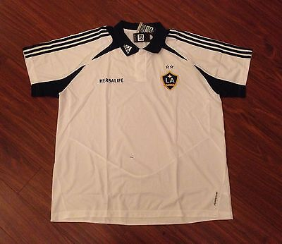 Los Angeles Galaxy Adidas Polo Golf Shirt Jersey Mens 2Xl New With Tags
