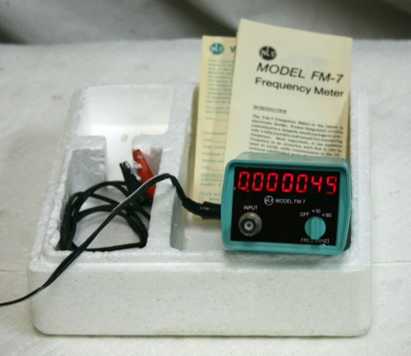 Vintage Non-Linear Systems (NLS) FM-7 Frequency Counter / Meter, Complete in Box