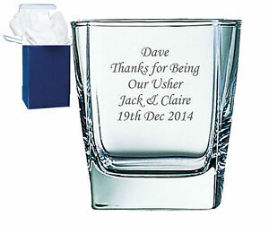 Personalised Engraved Whisky Glass Wedding Father Of The Bride With Gift Box
