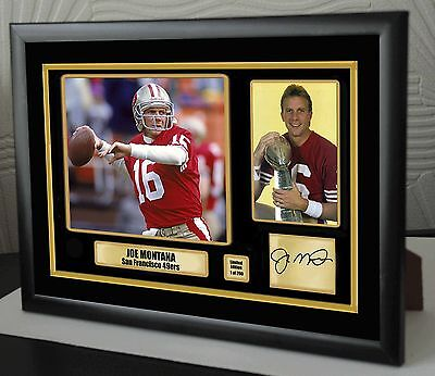 "Joe Montana Framed Canvas Signed Print  ""Great Gift"""