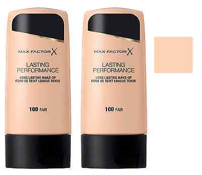 Max Factor Lasting Performance Foundation - 100 Fair, 35ml (2 Pack)