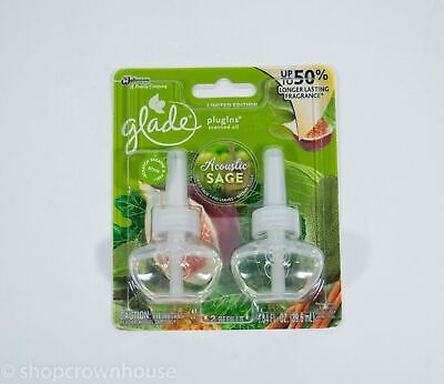 1 Pack of Glade PlugIns Scented Oil Refills - ACOUSTIC SAGE Limited Edition