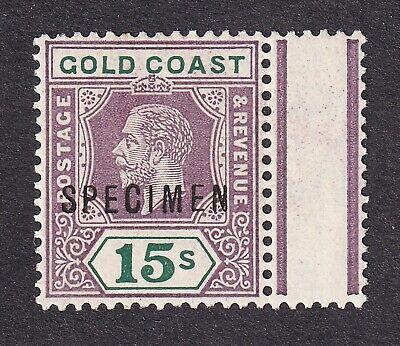 Gold Coast 1921 15/- specimen mint hinged