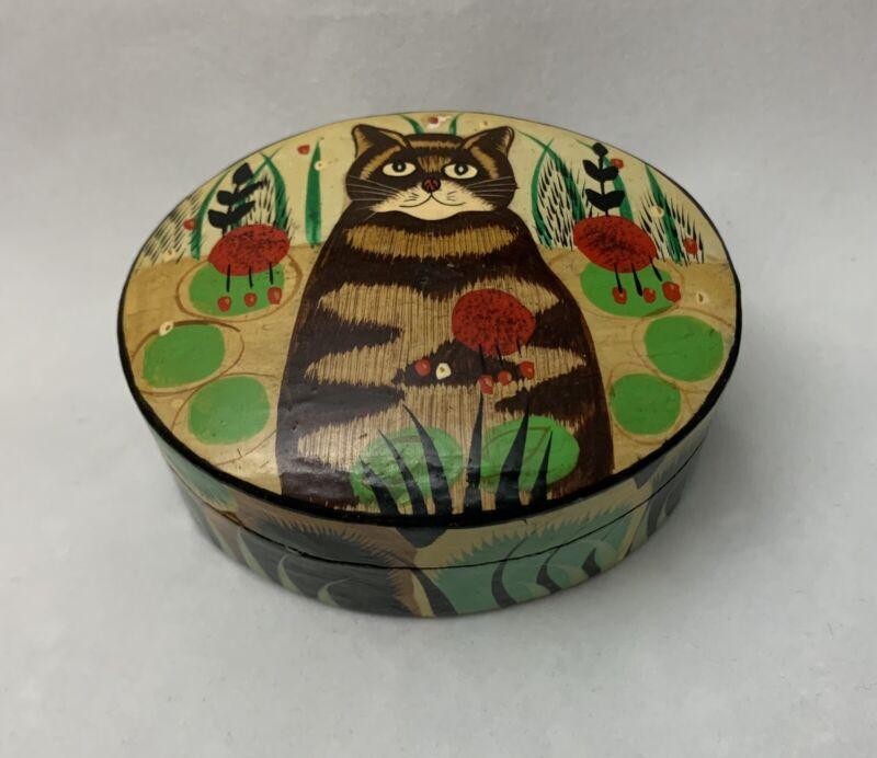 Vintage Cat Trinket Box