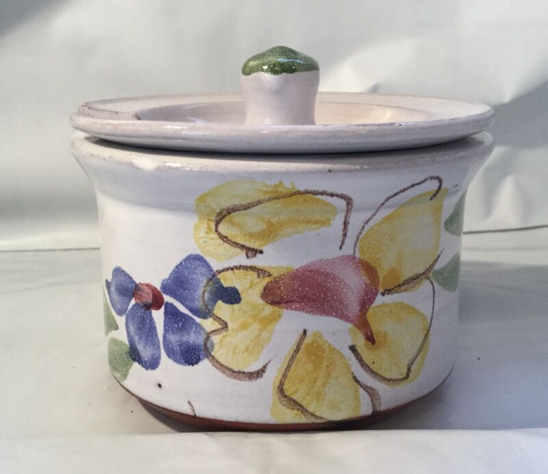 Pottery Jam Jelly Condiment Pot Jar Container