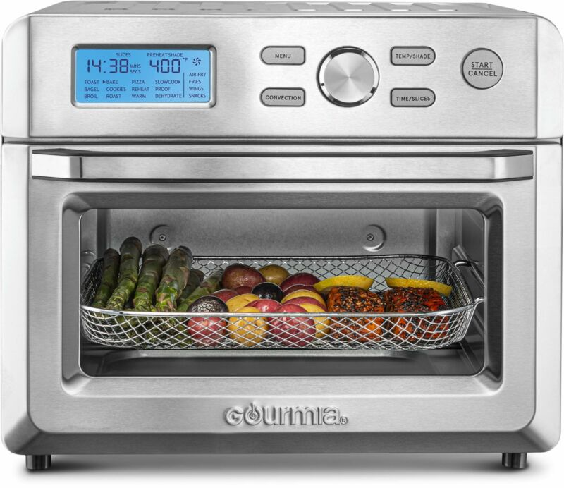 Gourmia GTF7600 16-in-1 Extra Large Digital Air Fryer Oven - Stainless Steel