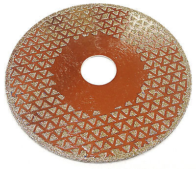 2 x 125mm - Diamond coated angle grinder wheel, to Sharpen Stump Grinder Teeth