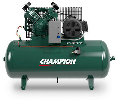 Champion Air Compressor Hrv7-12 7.5 Hp 120 Gal Single Phase W Aftercooler
