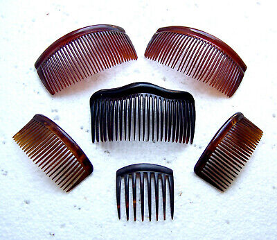 Victorian Wigs, Hair Pieces  | Victorian Hair Jewelry Six practical hair combs faux tortoiseshell hair accessories $90.00 AT vintagedancer.com