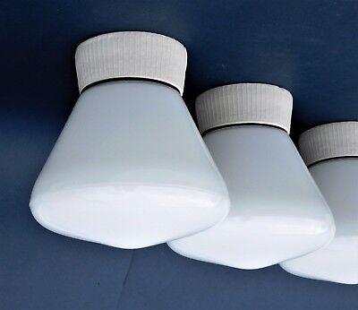 Glaskolbenlampe Deckenlampe Art Deco Lampe PAAR  Industrielampe Bauhaus Lamp, B3