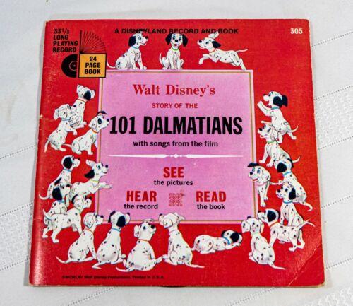 101 Dalmatians - See Hear Read  24 Page Book 33 1/3 RPM Record Walt Disney
