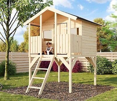 Kinderspielhaus Tobi 3 Kinderhaus Stelzenhaus Spielhaus Podest 150 cm Toby XXL