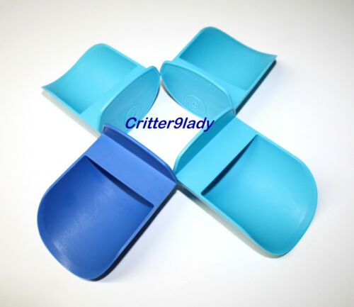 NEW Tupperware Lot of Canister Rocker Scoops in Shades of Blue