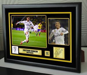 Cristiano Ronaldo Real Madrid Framed Canvas Print Signed Great Gift Ltd Edition
