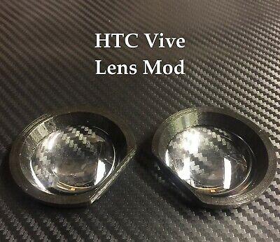 HTC Vive Lens Mod | Lenses + Bracket | BLACK | 3D printed | gear vr