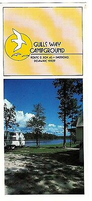 Gulls Way Campground Dagsboro Delaware Vintage Brochure