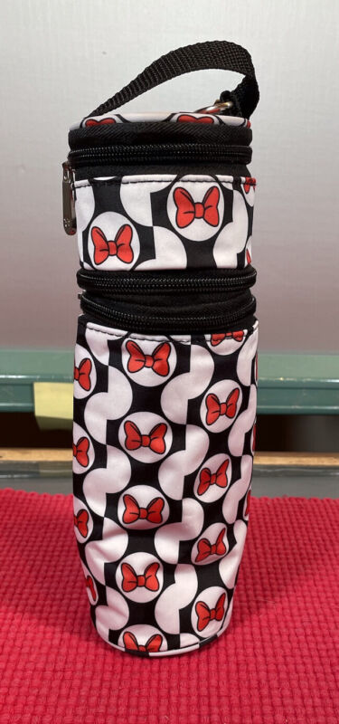 Disney Baby Minnie Mouse Insulated Bottle Carrier Excellent Condition