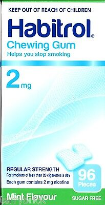 Habitrol Nicotine Gum 2mg MINT 96 piece 1 box