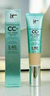 IT Cosmetics Your Skin But Better CC+ Cream Oil-Free Matte SPF40 (Best Full Coverage Cc Cream)