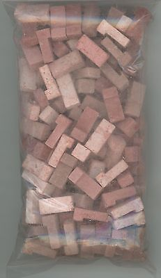 """Dollhouse Miniature Red """"Faded"""" Brick Corners (125 Pieces)"""