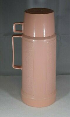 Very Rare Vintage 11 1/2 Inch PINK Thermos Bottle with Lid-Cup-NEVER USED