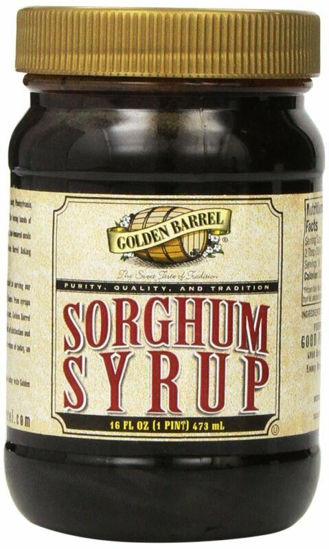 Golden Barrrel Sorghum Syrup Wide Mouth Jar, 16 oz ( Pack May Vary )