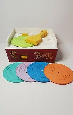 Fisher Price Music Box Record Player 2014 Replica 1971-WORKS 5 DISK