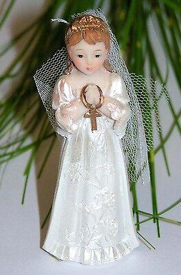 Figur mit Schleier  Kommunion / Konfirmation 9,5cm Top  5532 (Dekorative Mädchen)