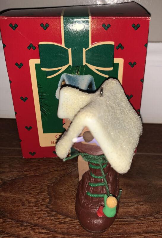 "Hallmark Christmas Ornament ""Children In Shoe"" 1985 Vintage W/Box"