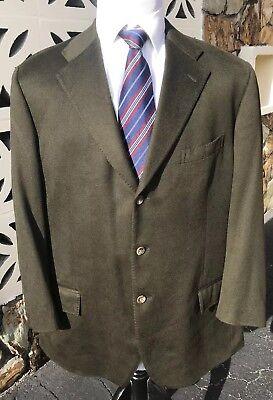 Ralph Lauren x Corneliani Sports Coat Italy Hunter Green 100% Cashmere 46 L Long